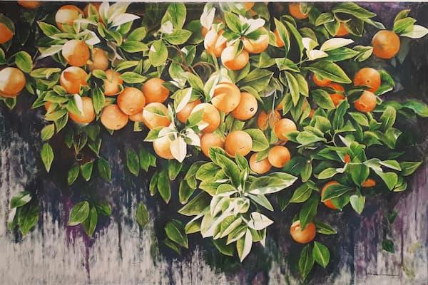 pintura de naranjas