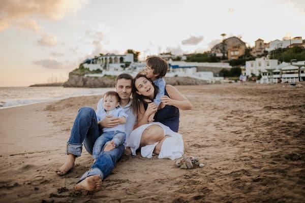 Familia en la playa