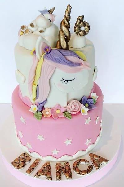 Tarta de unicornios.