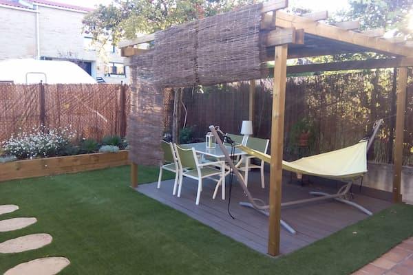 Jardín remodelado.