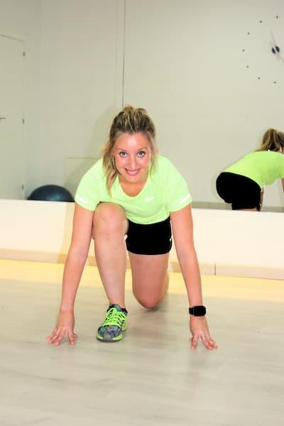 Personal trainer femenino.
