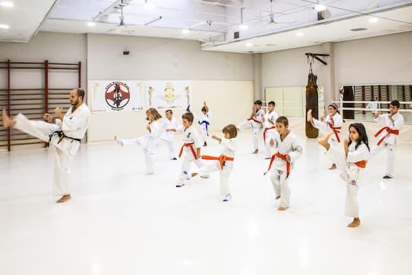 Clase de artes marciales.