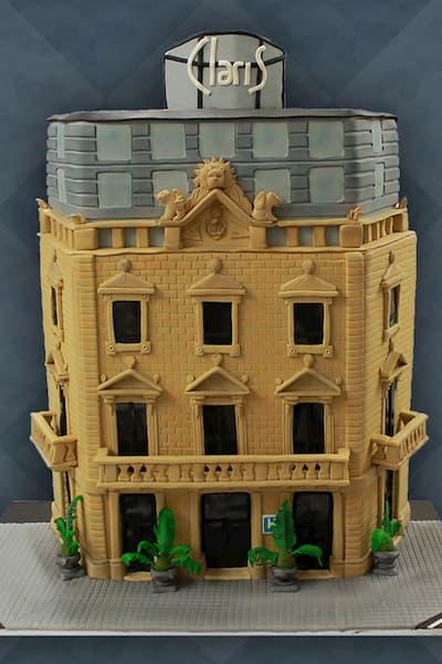Pastel de un edificio.
