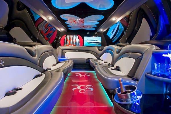 Interior limusina de fiesta.