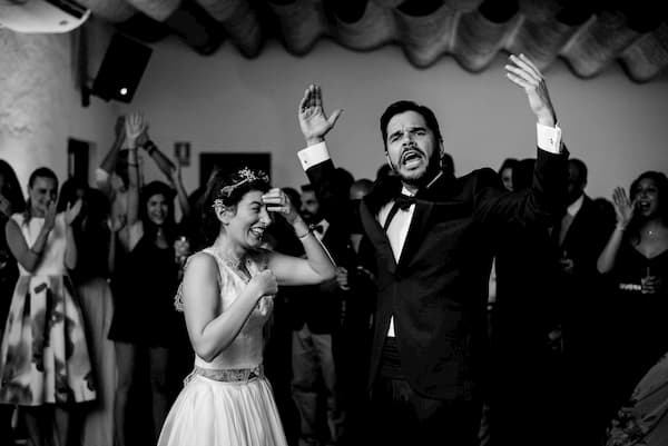 Festejo de bodas.