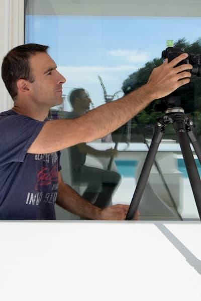 Fotógrafo y su cámara.