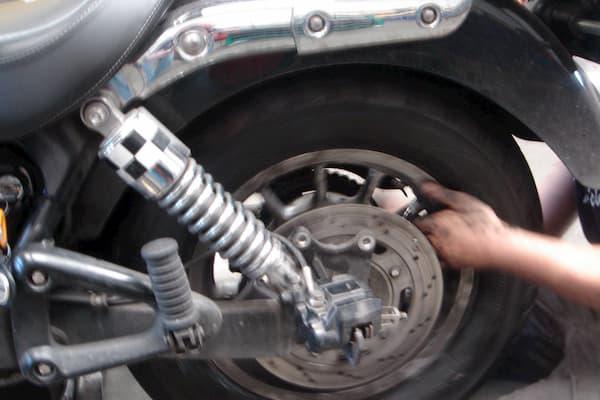 Neumático de motocicleta.