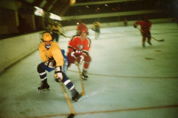 Partido de hockey de linea.