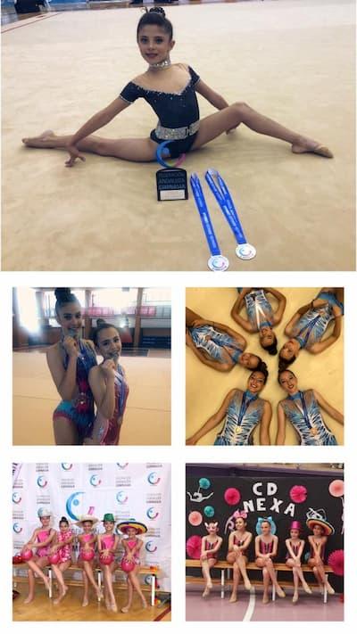 Competidoras de gimnasia.