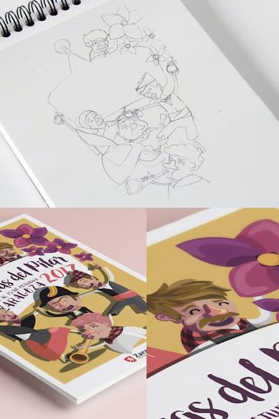 Cuaderno de dibujos.
